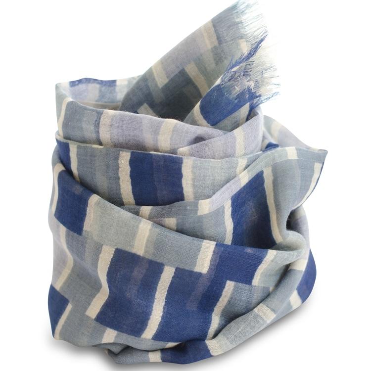 MARGIT K, Tørklæde, Ørestad Blue ,silke